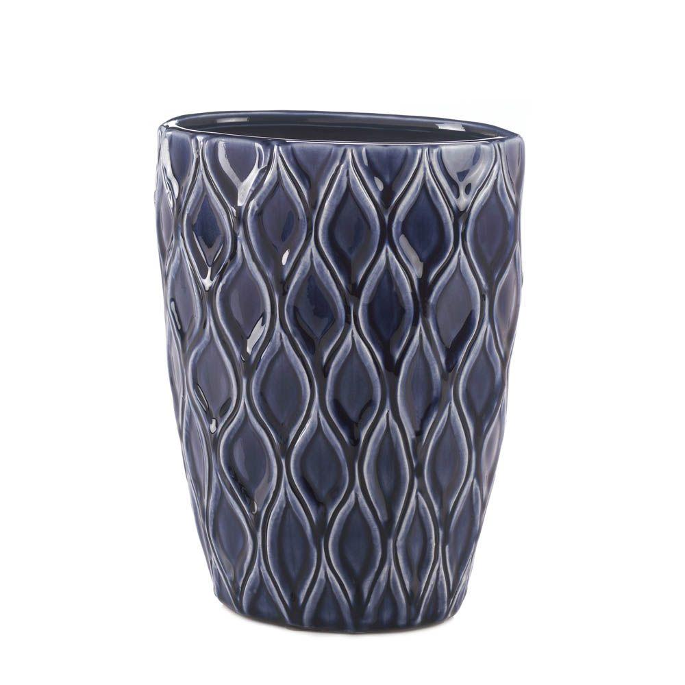 Deep blue wide vase wholesale at koehler home decor blue