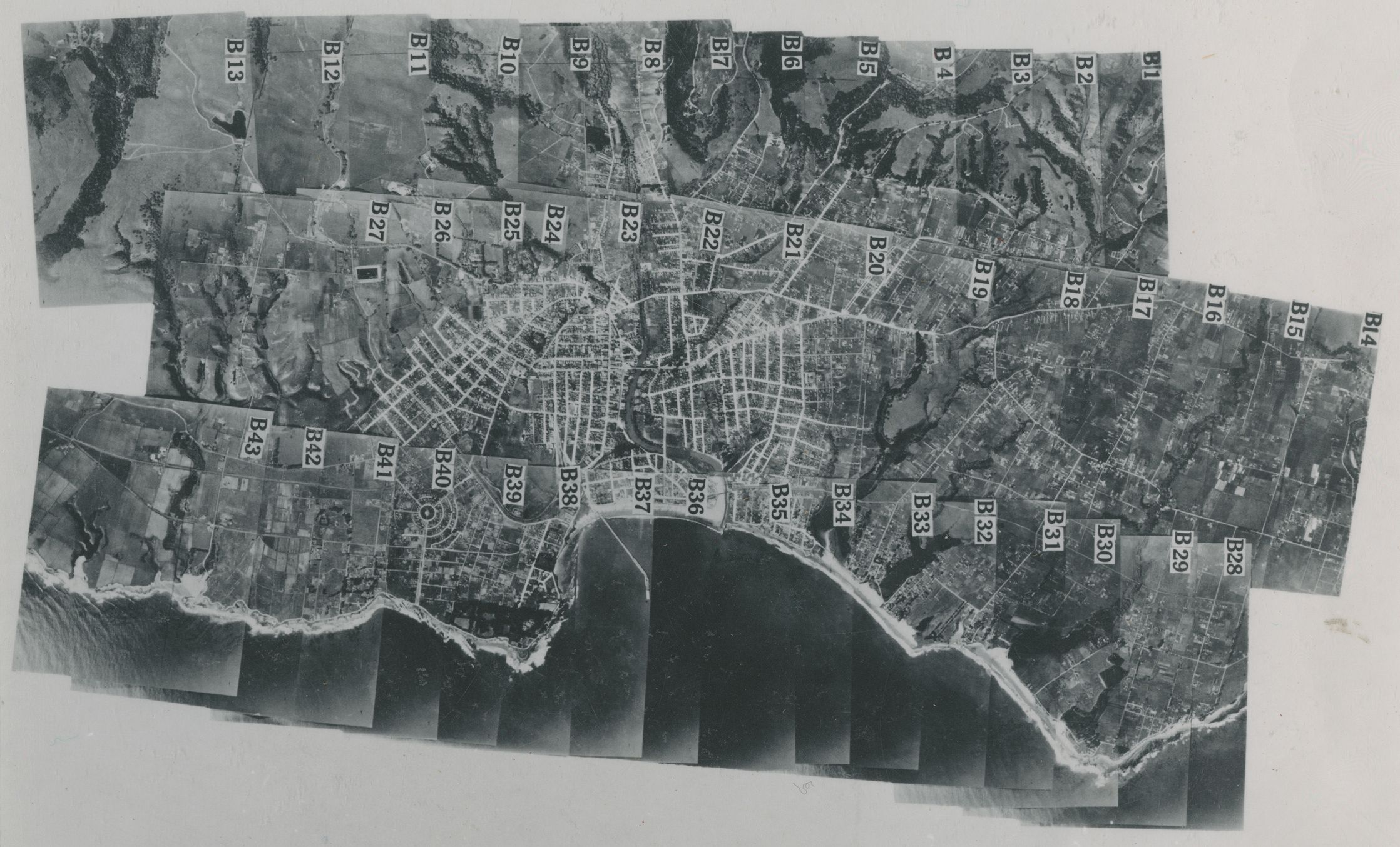 Aerial photo Monterey Bay Area index map