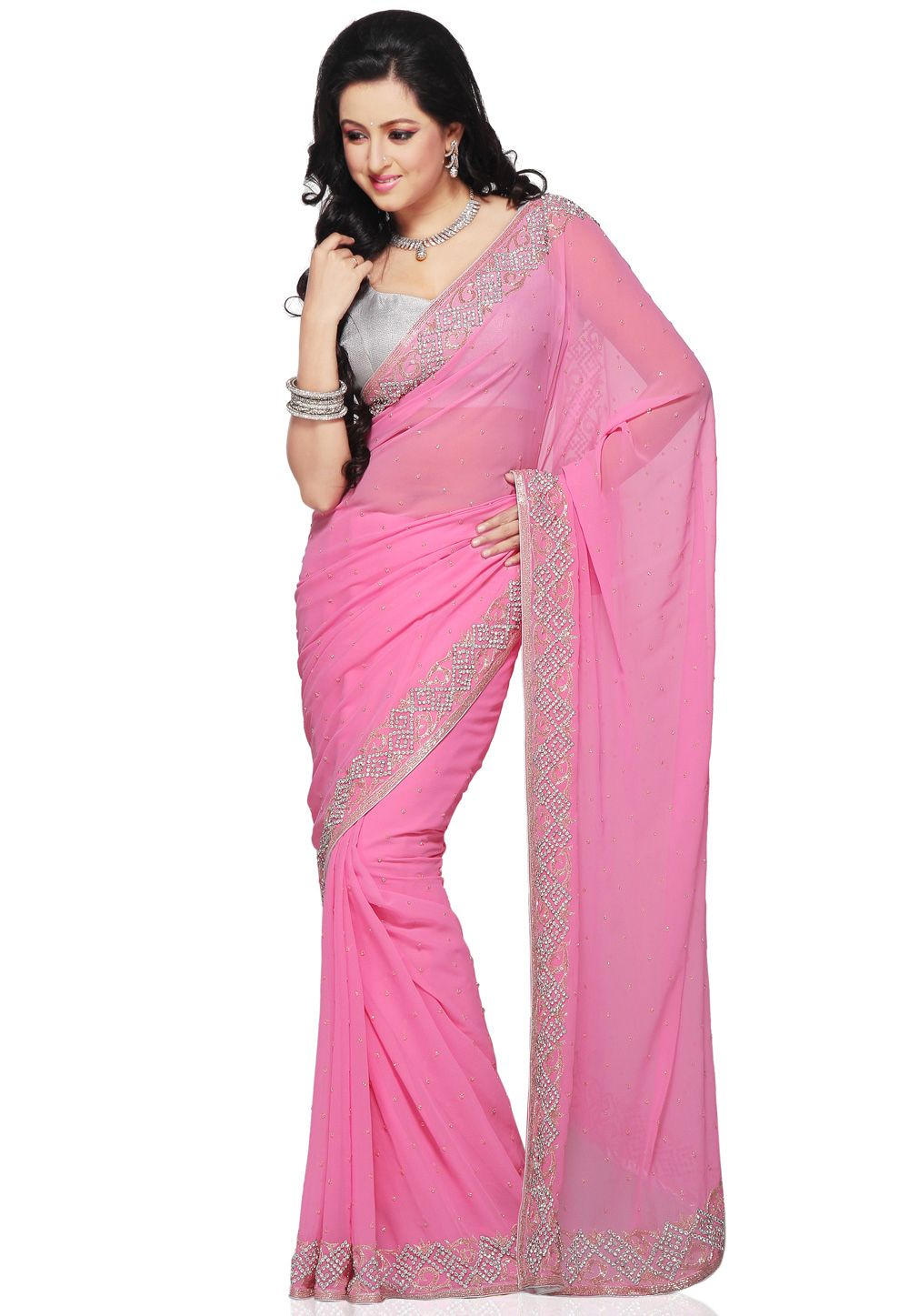 Pink saree | dress | Pinterest