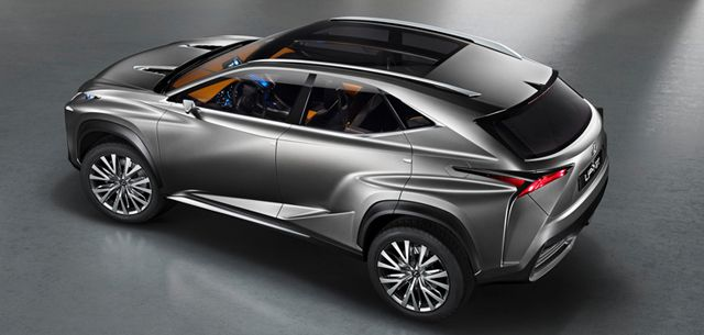 lexus shows lf-nx hybrid crossover suv at frankfurt  | awesome