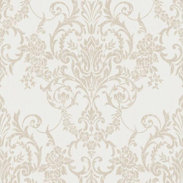 Graham Brown Empress Victorian Damask Gold Removable Wallpaper