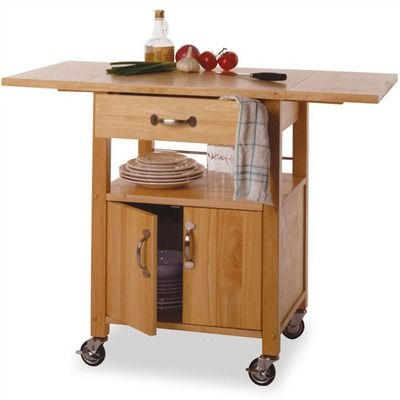 Winsome Basics Kitchen Cart W 2 Drop Leaves $162Multiple Uses Custom Kitchen Cart With Drop Leaf Design Ideas