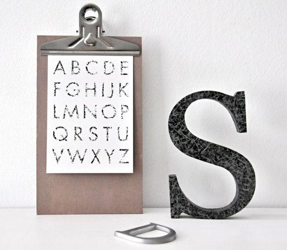 ABC Alphabet Postcard in net look, black and white, bnw /// ABC Netz Alphabet Postkarte, schwarz weiß