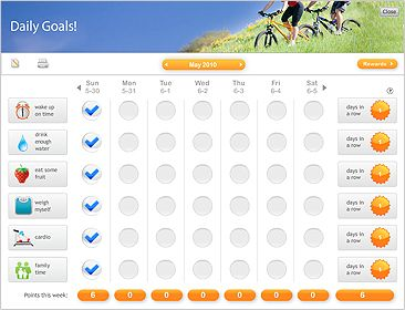 Free Online Goal Setting With Tracker And Daily Habit Charts