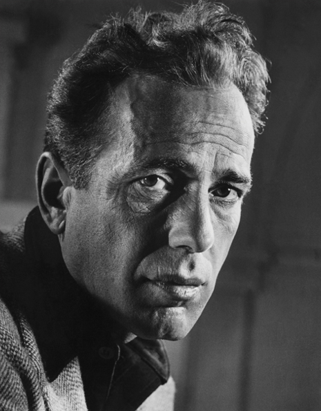 """Humphrey Bogart, 1944, photo by Philippe Halsman """"I'm not good-looking. I used to be but not any more. Not like Robert Taylor. What I have got is I have character in my face. it's taken an awful lot..."""
