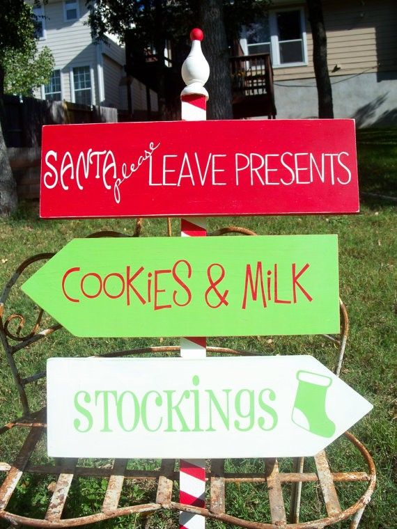 2013 christmas hand painted signs hand print christmas yard stakes directional signs