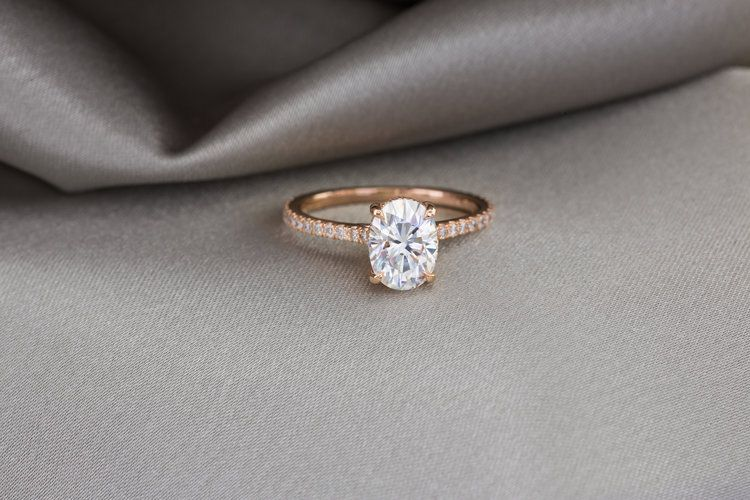 The Elle Ring In Champagne Gold The True Gem Company