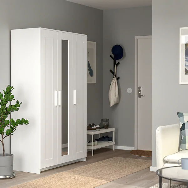 Brimnes Wardrobe With 3 Doors White Ikea Brimnes Doors Ikea Wardrobe White In 2020 Brimnes Kleiderschrank Ikea Kleiderschrank Kleiderschrank 3 Turig