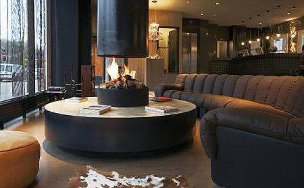 circular fireplace | Dream Home | Pinterest | Interiors