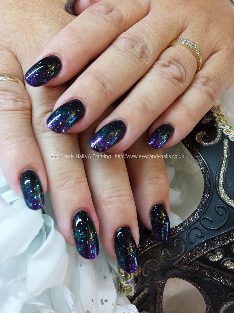 Nail Technician:Elaine Moore Description: black gel polish with ...