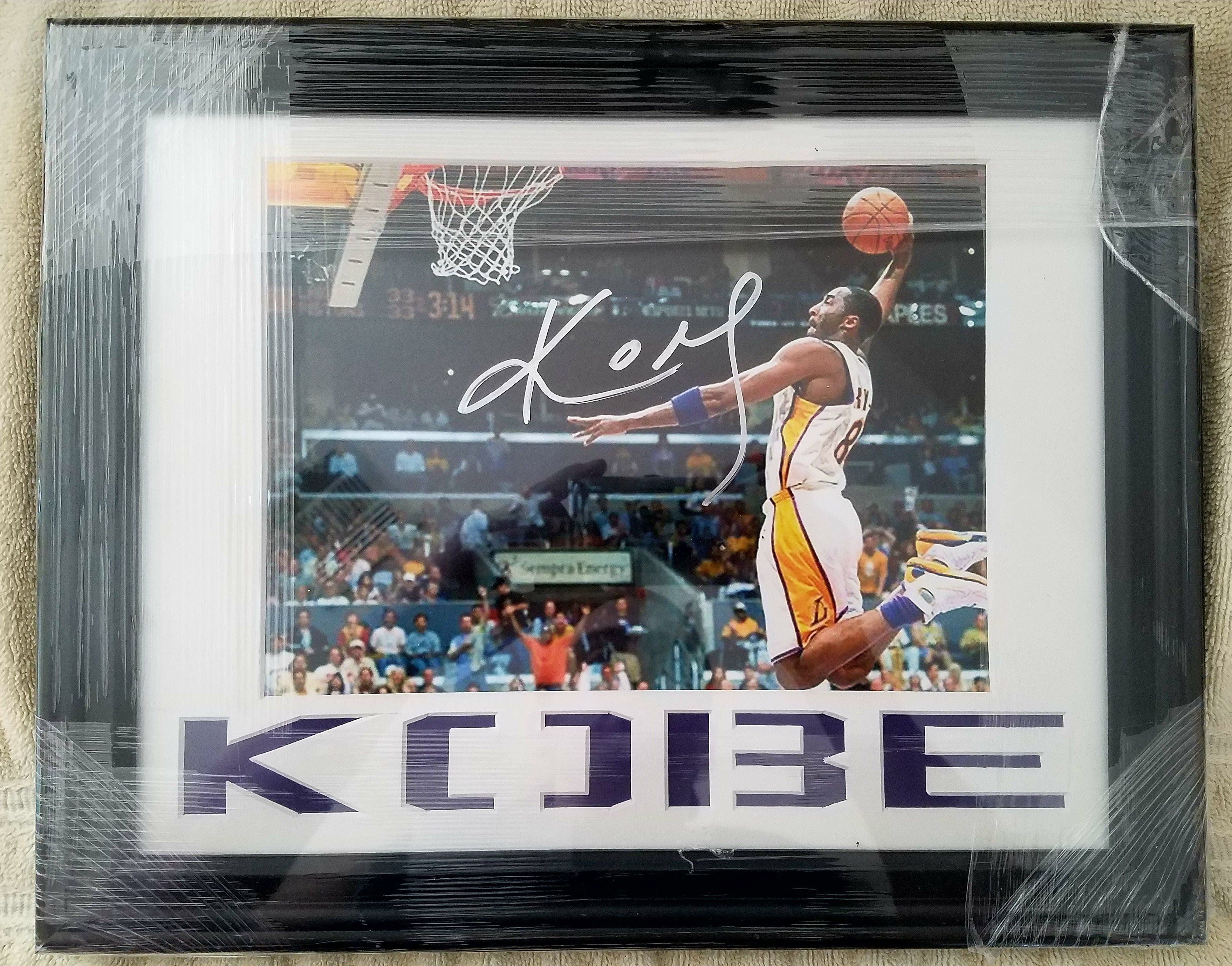 Kobe Bryant Autographed Photo Russell Westbrook