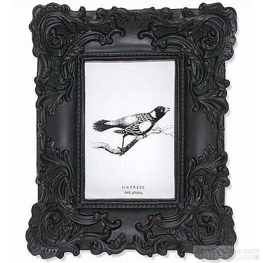 Black Baroque Frame By Sixtrees Picture Frames Photo Albums