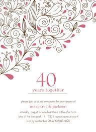 Image Result For Th Wedding Anniversary Invite Template Mum - 40th wedding anniversary invitation templates