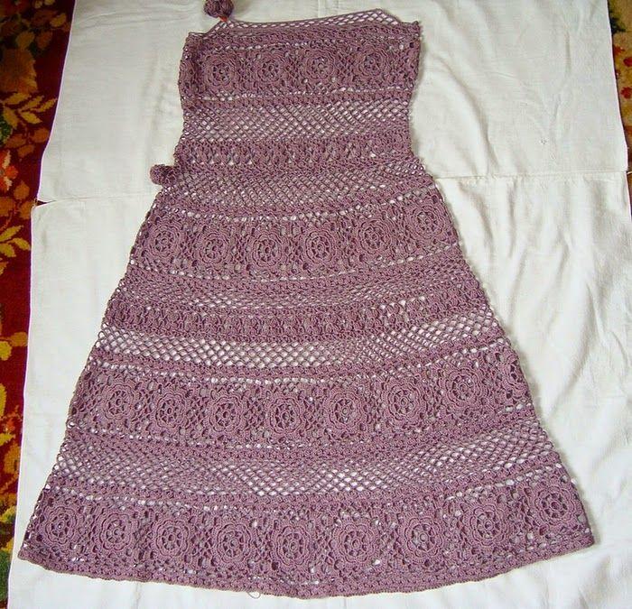 Sidney Artesanato: Vestido de crochet das famosas com PAP e gráficos