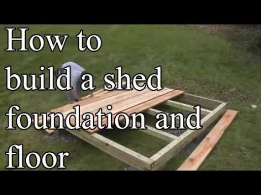 How To Build A Shed Foundation With Your Own Hands Howtobuildashed In 2020 Backyard Sheds Building A Shed Shed Building Plans