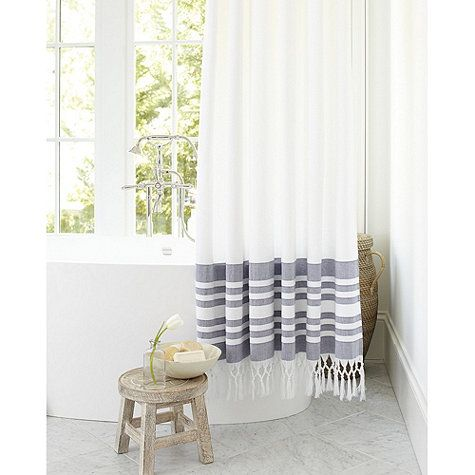 Turkish Shower Curtain Indigo