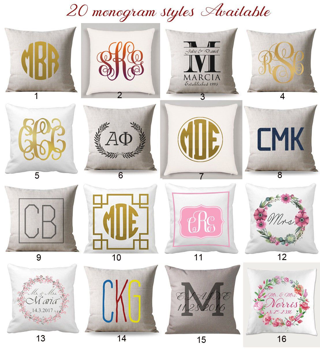Monogram Pillow Cover Custom Monogrammed Pillow Case Monogram Cushion Cover Monogram Throw Pillow Personalize Wedding Gift For Couple In 2020 Monogram Pillows Monogram Throw Pillow Monogram Pillowcase
