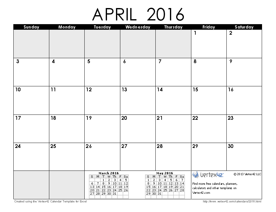 Favorite Printable Monthly Calendar   Calendars Created Using
