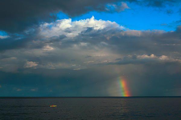 Rainbow and Kayaker. Lake Michigan, Milwaukee, WI