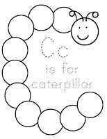 Letter C Coloring Page: You can paint or color this with