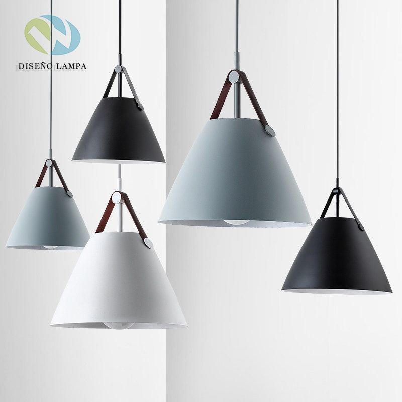 Led E27 Simple Macaron Color Pendant Lamp Lights Kitchen Island