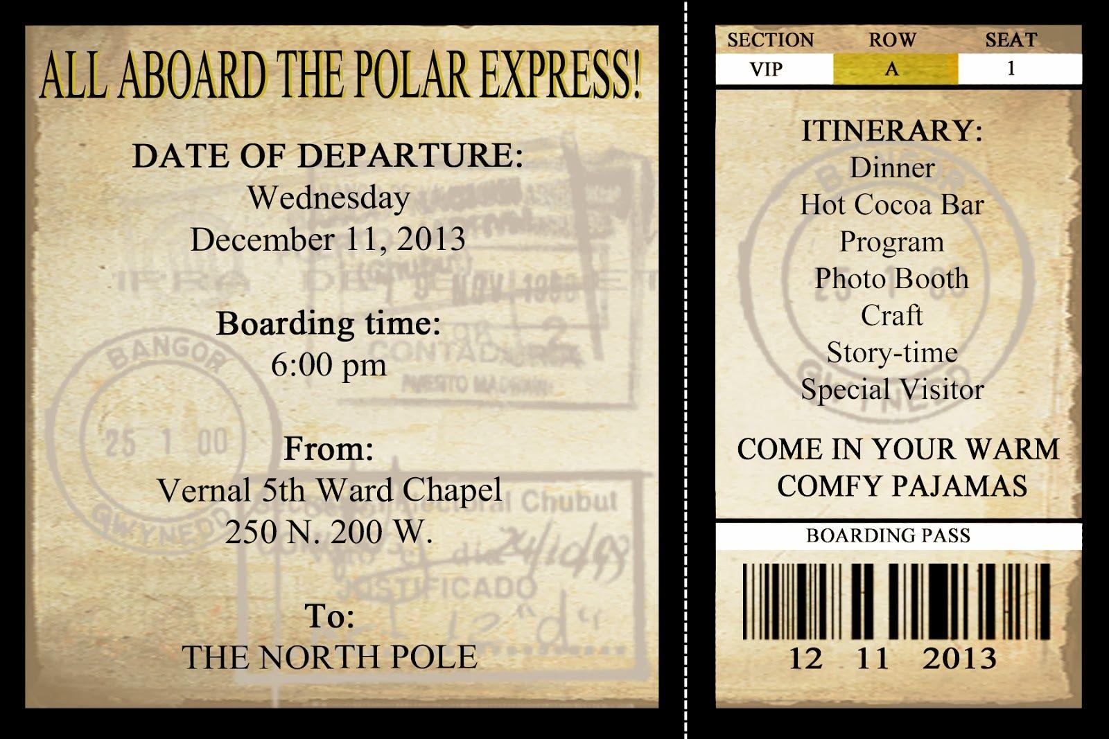 Polar Express Invite Jpg 1 600 1 067 Pixels Polar Express Party