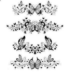 Photo of Tatouages de papillon – J'envisage de les mettre autour de mon bras pour … – Butte …..