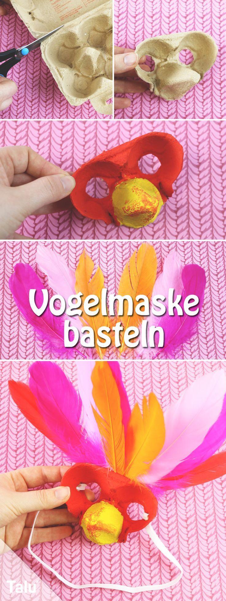 Vogelmaske basteln – Anleitung mit Vorlage und Schablone - Talu.de