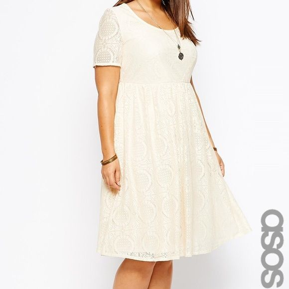 ASOS Lace dress Cute cream ASOS fit and flare dress! ASOS Dresses
