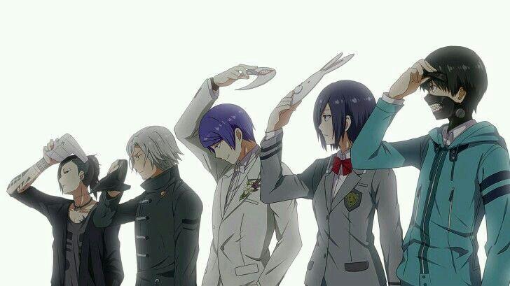 Ken kaneki?, Yomo Renji,  Kirishima Touka,  Uta and Tsukiyama Shu