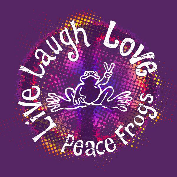 Lavender on Dark Purple Peace Sign Classic Round Sticker ...  |Peace And Love Purple