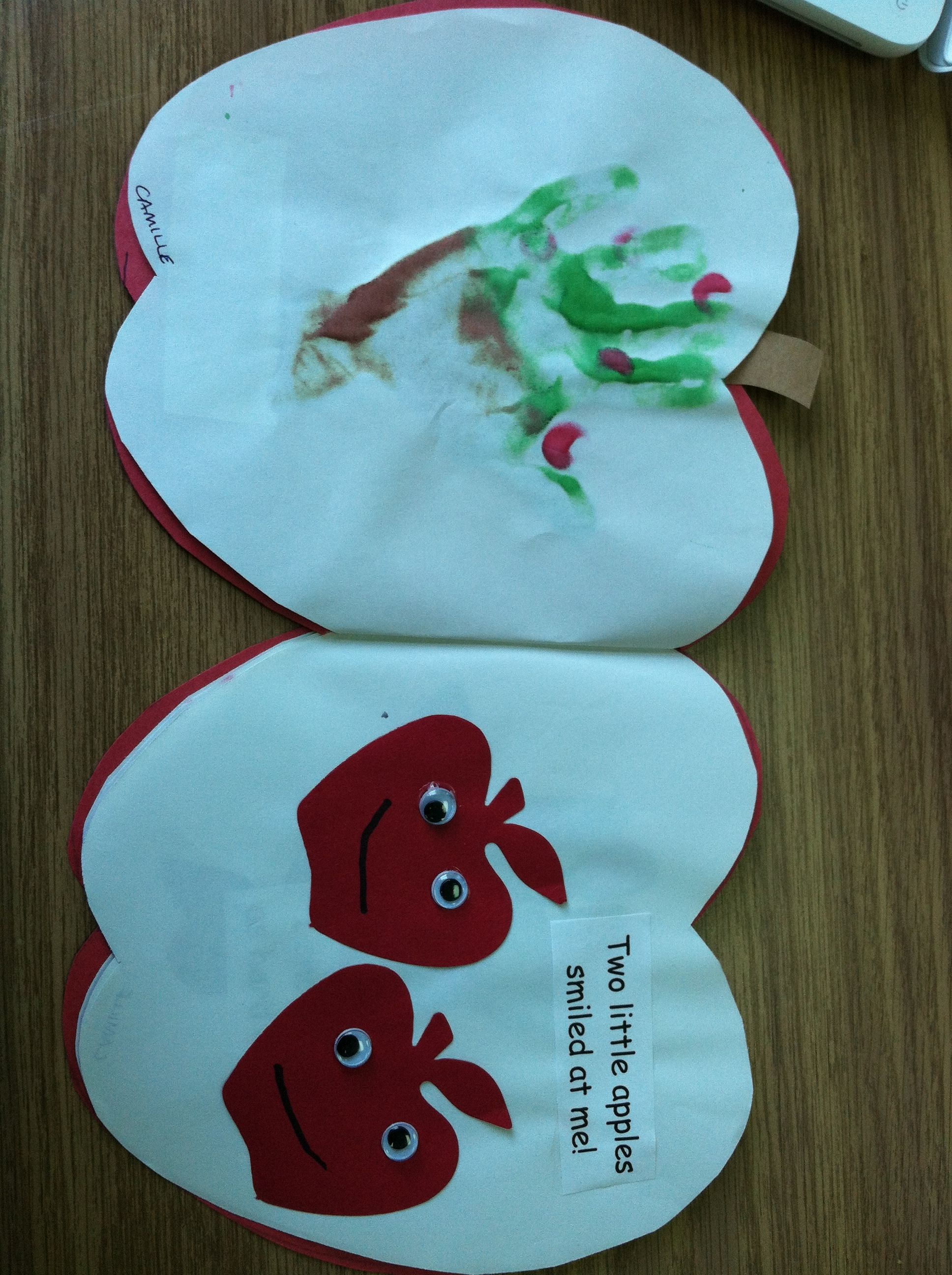 Two Little Apples Poem Book