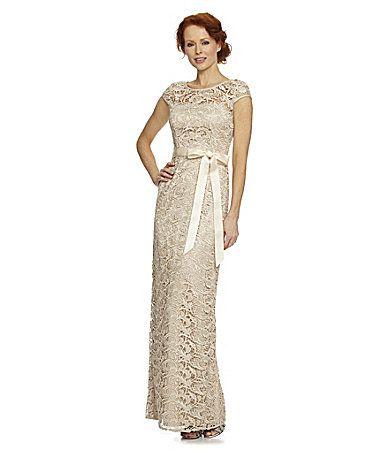 Adrianna Papell Cap Sleeve Lace Dress Check Out Dillardscom My
