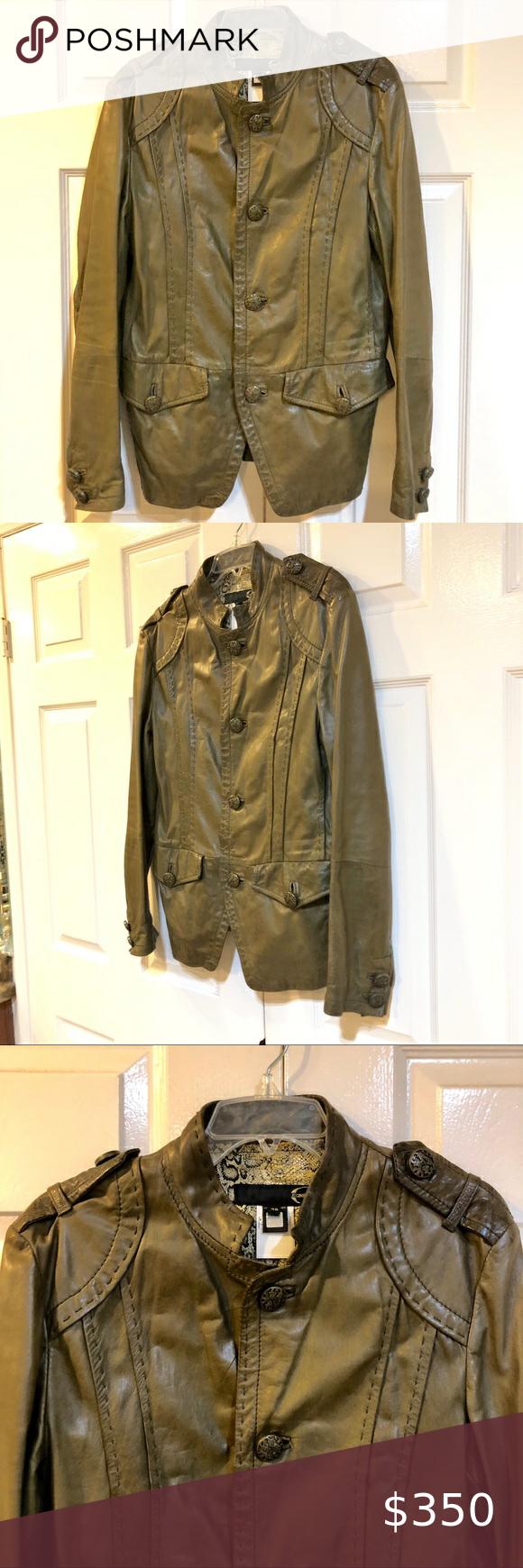 Just Cavalli Olive Green Leather Jacket Sz 48 Olive Green Leather Jacket Green Leather Jackets Just Cavalli [ 1740 x 580 Pixel ]