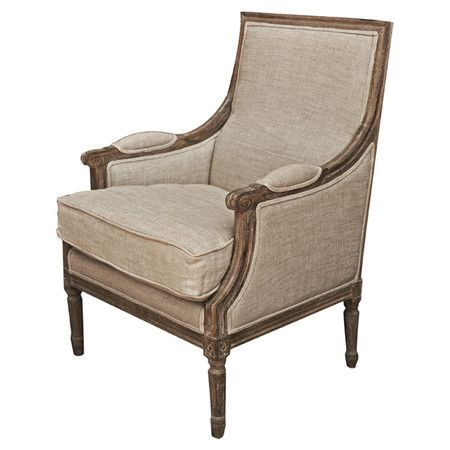Marvelous Upholstered Arm Chair With A Weathered Oak Frame Product Andrewgaddart Wooden Chair Designs For Living Room Andrewgaddartcom