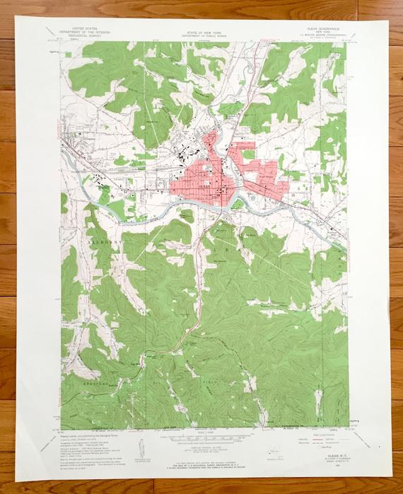 Antique Olean, New York 1961 US Geological Survey ...