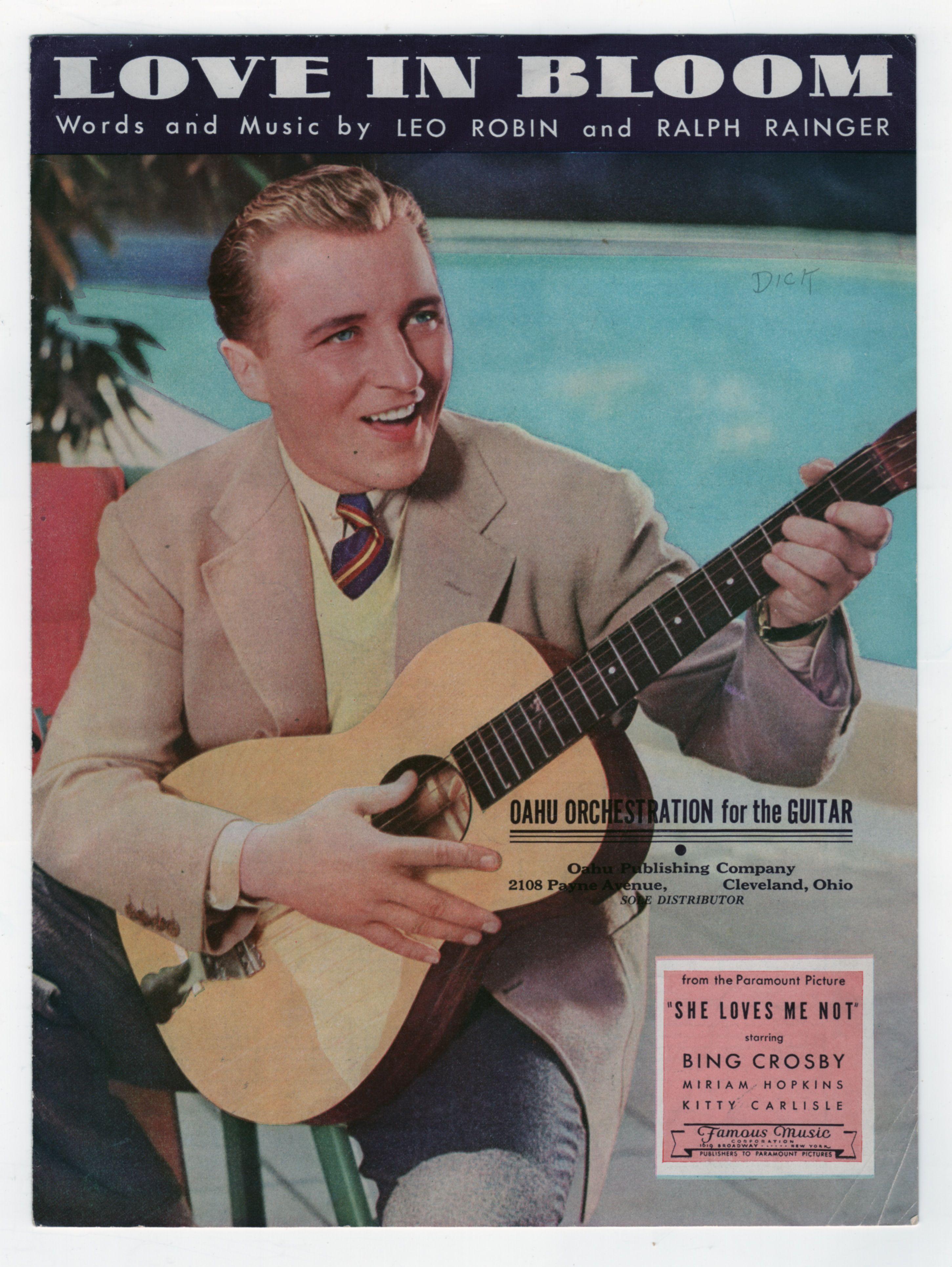 Bing Crosby Love In Bloom, 1934 Bing crosby, Vintage