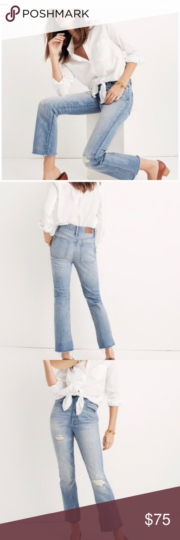 NWT MADEWELL Jeans Rigid demi boot crop jeans by madewell