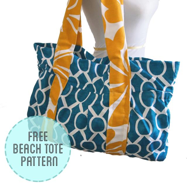 Free Beach Bag Pattern | Sew, knit, craft... | Pinterest | Nähen