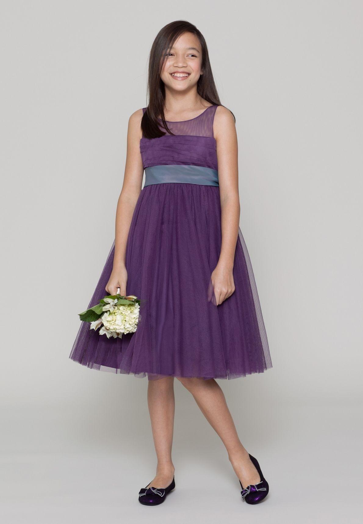 Organza Jewel A-Line Short Junior Bridesmaid Dress - Bridesmaid with ...