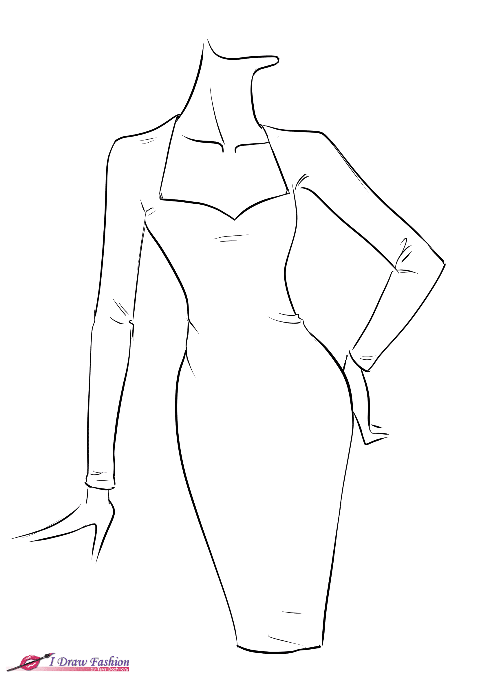 How to draw fringe dress , I Draw Fashion