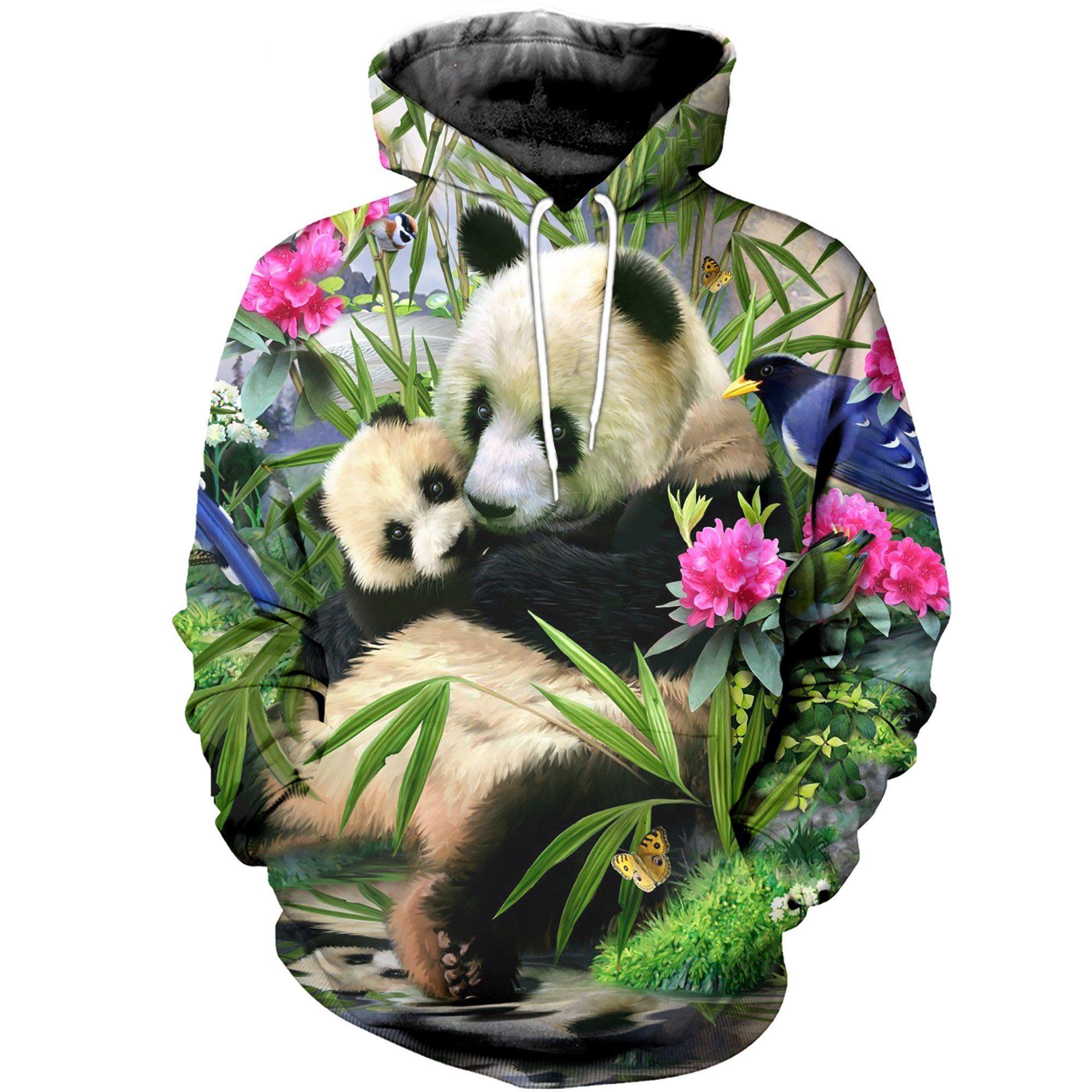 3D Printed Panda Flower Prints, Summer festival, Panda