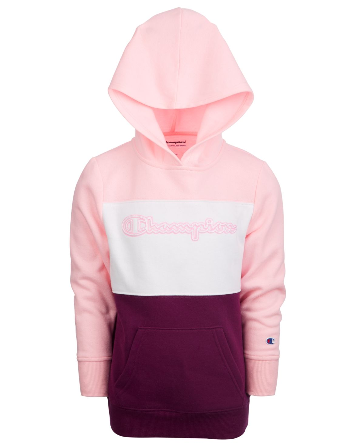 Champion Toddler Girls Colorblocked Hoodie Pink Candy Big Clothes Pink Candy Hoodies [ 1467 x 1200 Pixel ]