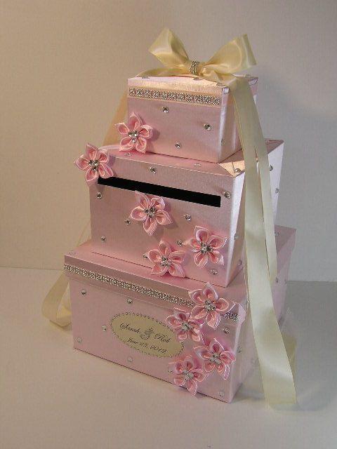 Wedding Card Box Champagne Gift Card Box Money Box Holder Customize