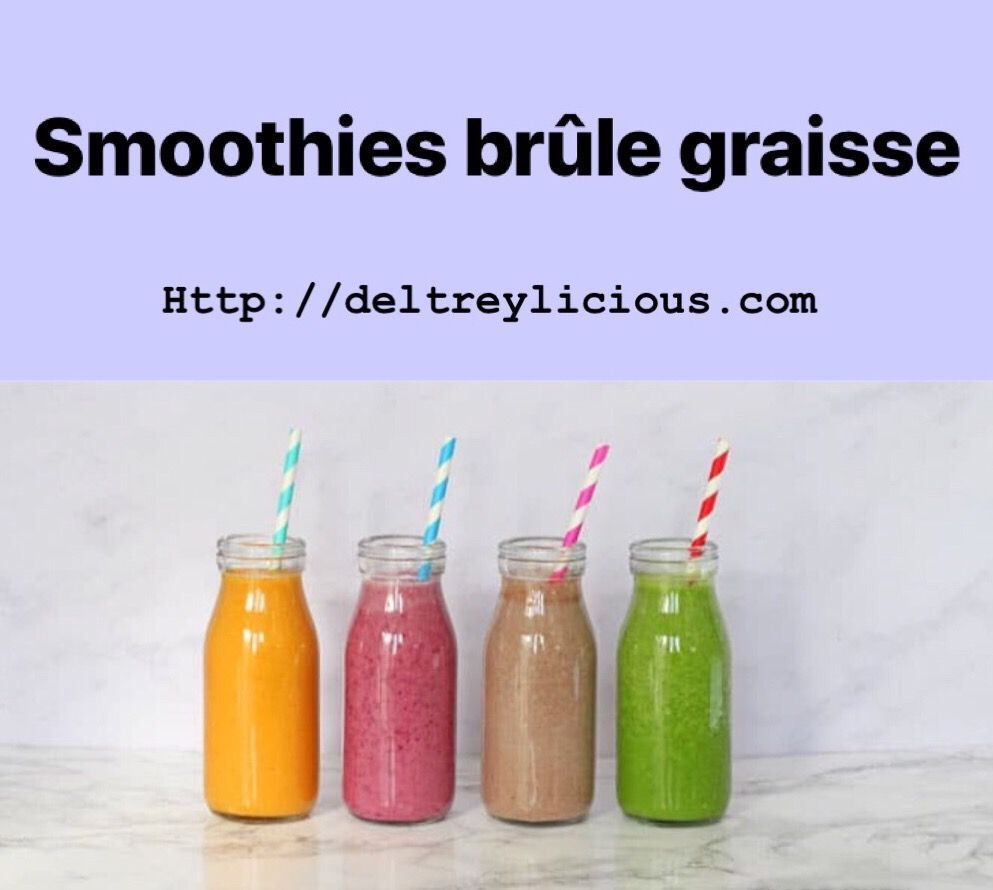 5 Smoothies Brule Graisse Idees Recettes In 2020 Healthy Detox Cleanse Detox Smoothie Smoothies