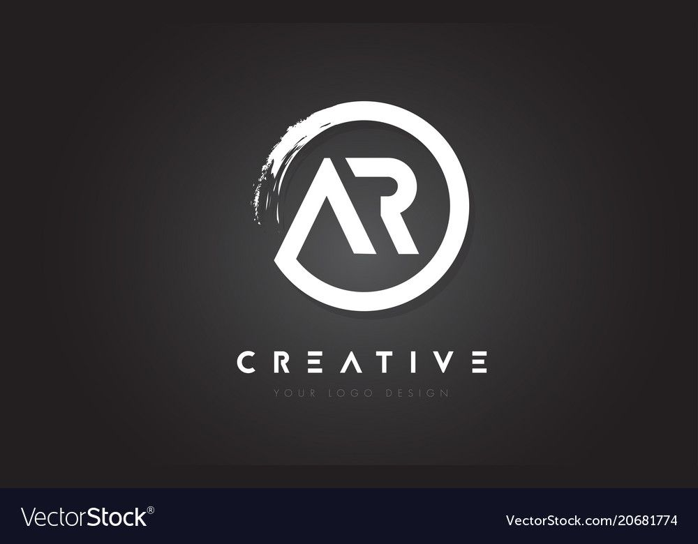 Ar Circular Letter Logo With Circle Brush Design And Black Background Download A Free Preview Or High Quality Adobe Illus Letter Logo Logos Letter Logo Design