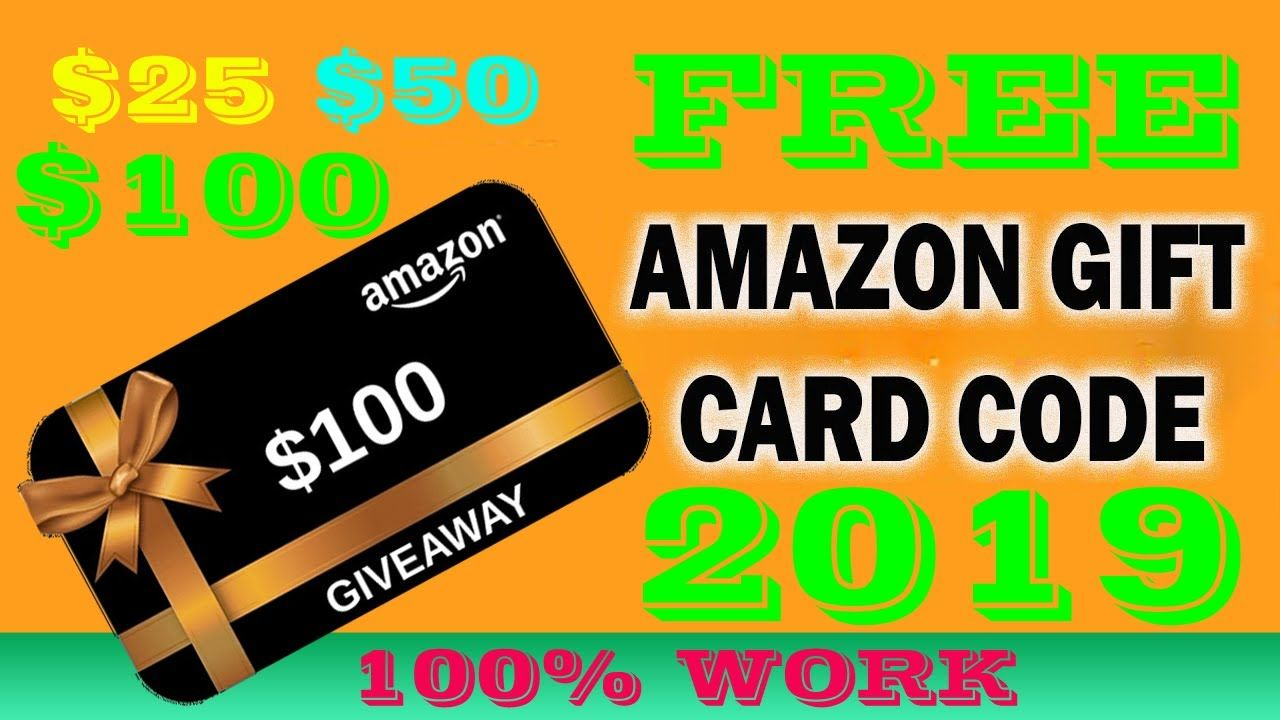 How To Get 100 Amazon Gift Card Amazon Gift Card Giveaway Work 2019 Amazon Gift Card Free Gift Card Giveaway Free Amazon Products