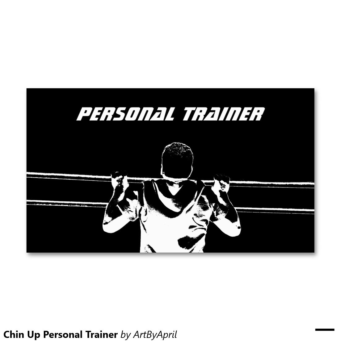 Chin up personal trainer double sided standard business cards pack chin up personal trainer double sided standard business cards pack of 100 accmission Gallery