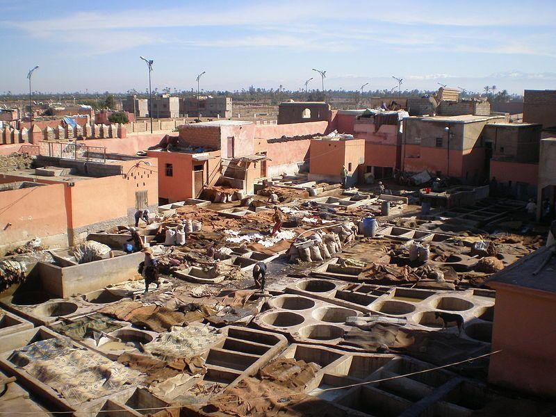Tanneries, Marrakesh, concerie, difficili da trovare