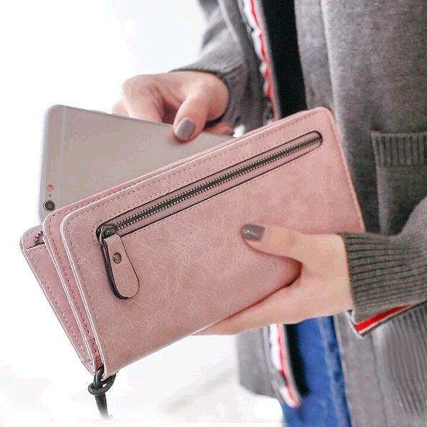 7b585167eb462 Universal Large Capacity Card Slot Long Purse Clutch Phone Wallet for Phone  Under 5.5-inch
